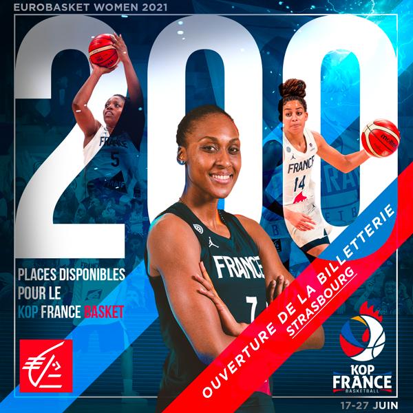 La billetterie du Kop France Basket pour l'EuroBasket Women 2021 est ouverte