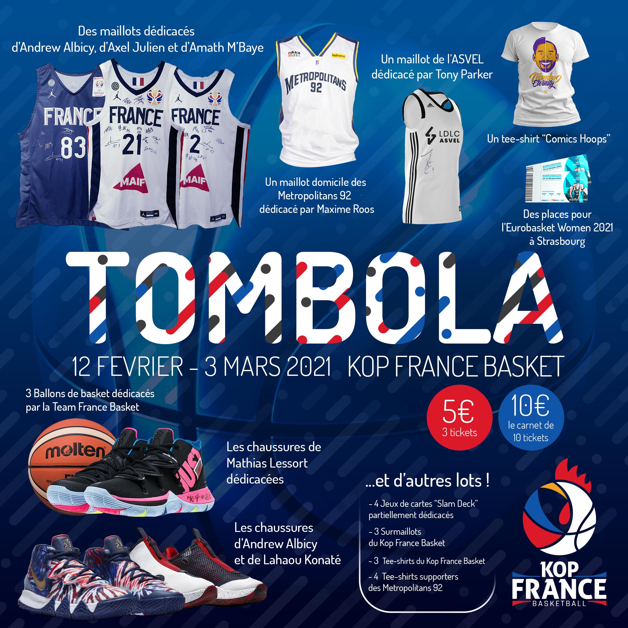 La Tombola du Kop France Basket est lancée !