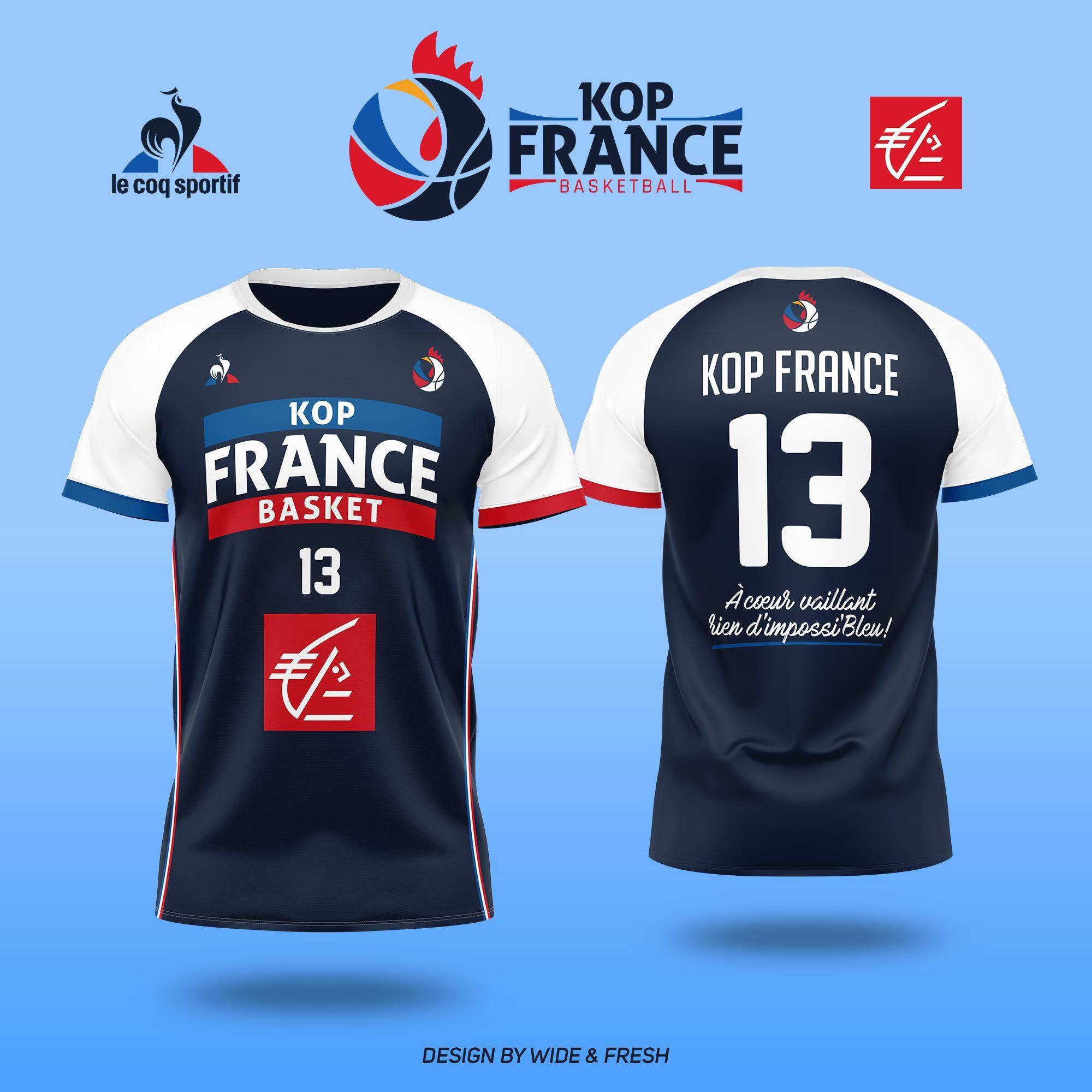 Les nouveaux maillots du Kop France Basket sont disponibles !