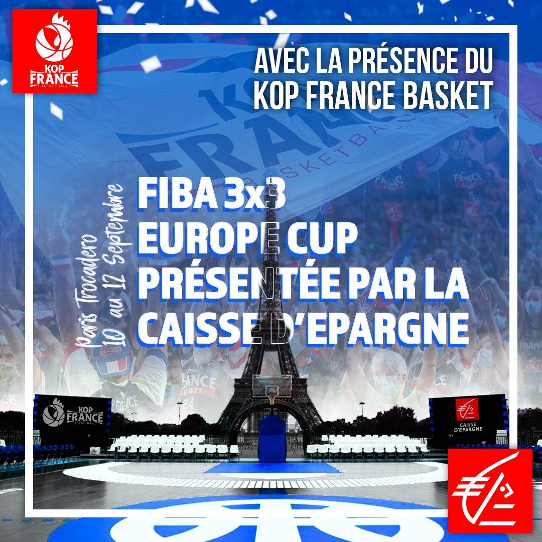 Venez vivre l'Europe Cup 3×3 avec le Kop France Basket